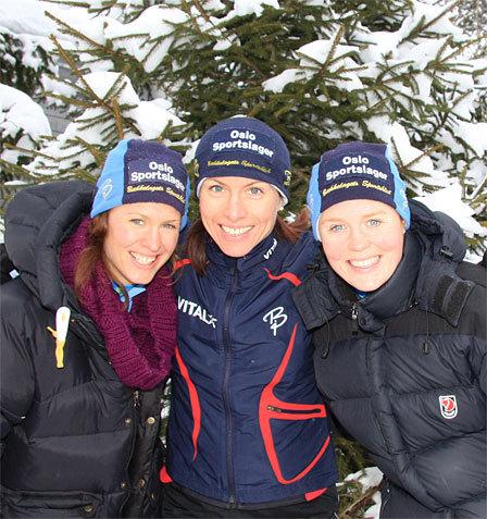 Denne trioen ble nummer 5, 2 og 1 i Blodslitet 2014 - fra venstre: Inger Liv Bjerkreim Nilsen, Anne Margrethe Hausken, Betty Ann Bjerkreim Nilsen. Arkivfoto: Geir Nilsen/Langrenn.com.