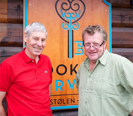To menn som har betydd mye for orienteringsidretten: Eystein Weltzien (tv) og Erik Østli. Foto: Privat.