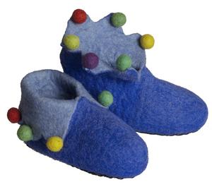 Blå Filttøfler