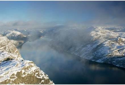 Lysefjorden ein vinterdag.