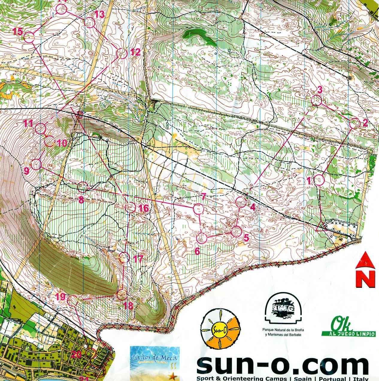 kart og bilder Map 2: Bilder og kart fra Andalucia O Meeting   March 3rd 2011  kart og bilder
