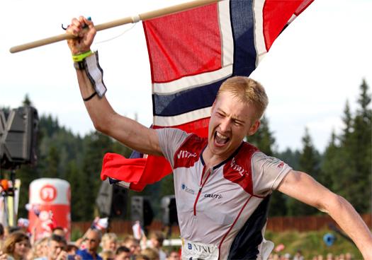 Olav Lundanes inn til VM-gull på langdistansen i Trondheim 2010. Foto: Geir Nilsen/OPN.no.