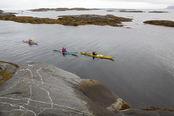 Kayaking at Flatvær,Karlsøy kommune