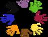 fargede håndavtrykk i ring