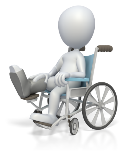Illustrasjon av mann i rullestol