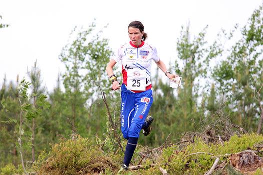 Anne Margrethe Hausken Nordberg fosser frem under VM-uttaksløpet på Ringerike i 2012. Foto: Geir Nilsen/OPN.no.