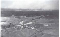 Flyfoto Widerøe av raset i 1967