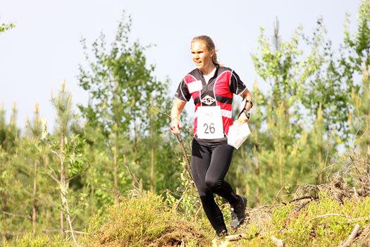 Silje Ekroll Jahren i et VM-uttaksløp like utenfor Hønefoss i Ringerike i mai 2012. Foto: Geir Nilsen/OPN.no.