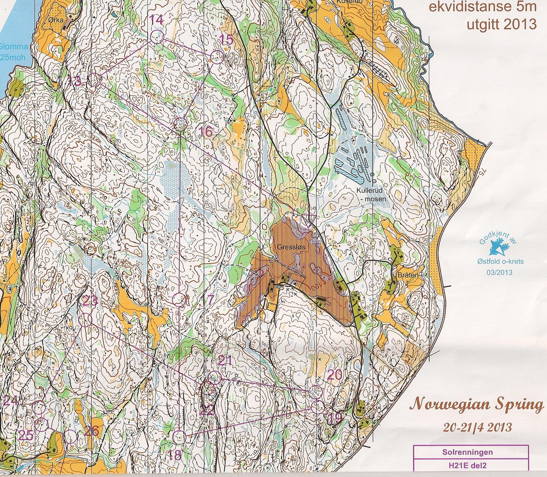 kart over konnerud Orientering på klassisk vis i Norwegian Spring kart over konnerud