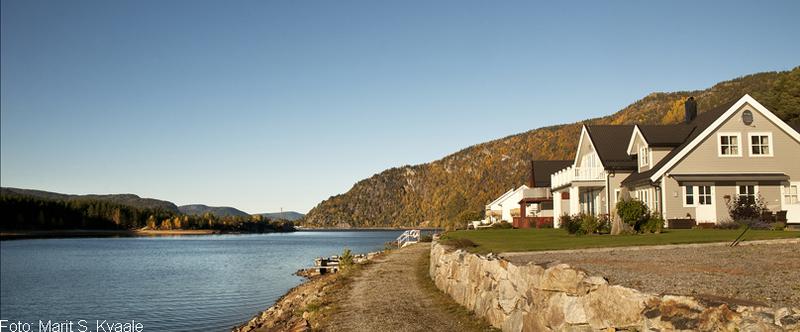Nye hus langs Byglandsfjorden