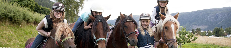 Jenter på hest