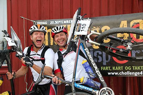 Team Aas-Brothers med Dagfinn og Svein-Olav Aas vant herreklassen i Challenge40 2014. Foto: Susanne Skrimstad og Tommy Lysakermoen.