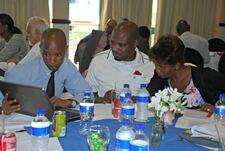 Botswana representatives with a computer 600p