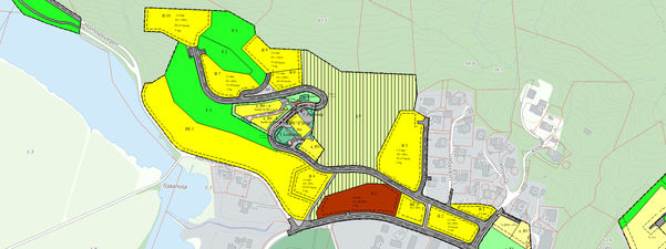 Del av reguleringsplan i Førde kommune. Kart.