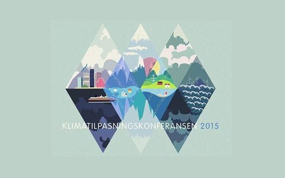 Logoen til Klimatilpasningskonferansen 2015.