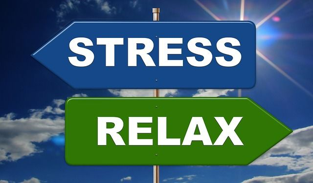 Illustrasjon med tekst, stress