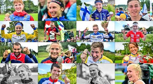 Nominerte løpere til kåringen Orienteering Achievement of 2015 i regi av WorldofO.com. Foto: Jan Kocbach.