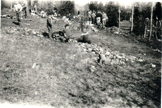 Kan dette ha vært Østlandsmesterskapet i Lier ved Sylling i 1962? Foto: Privat.