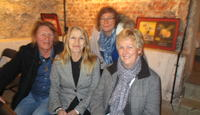Stein Olsen og Berit Paulsen fra Karlsøya, Ann-Helen Hansen fra Reinøya og næringskonsulent Laila B. Johansen.