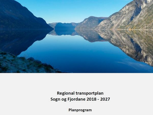 Framside til planprogram for Regional transportplan Sogn og Fjordane 2018-2027
