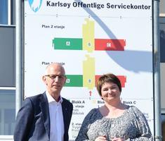 Rådmann Jan-Hugo Sørensen og ordfører Mona Pedersen
