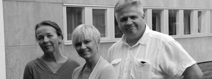 Elevteamet på Eid vgs - rådgjevar Lillian Moss, miljøkoordinator Hilde-Kristin Grimstad Nord og rådgjevar Magnar Aase