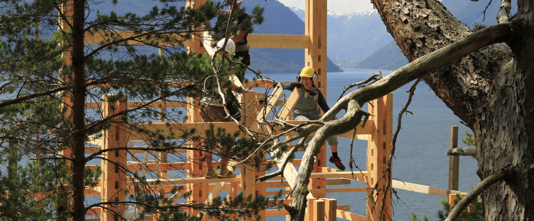 "Arkitektstudenter bygger ""Glipe"" på Kvamsøy"