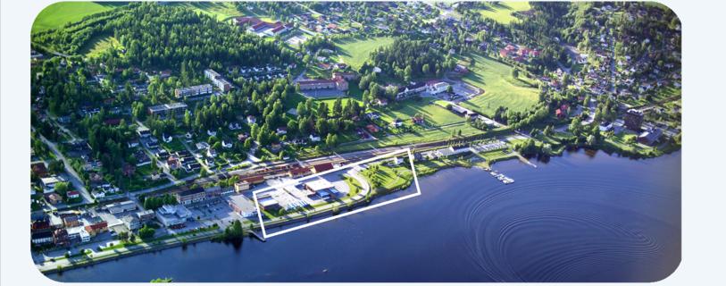 Vikesund nord med tegnet område