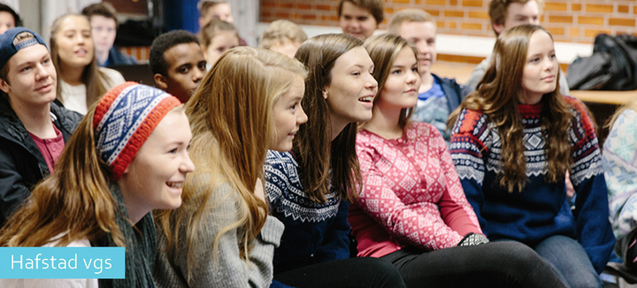 Elevar ved Hafstad vgs i ein engelsktime. Foto: Espen Nyttingnes
