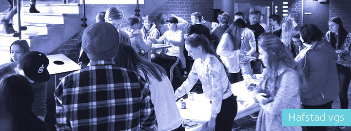Miljøskapande tiltak for elevane. Foto: Hafstad vgs