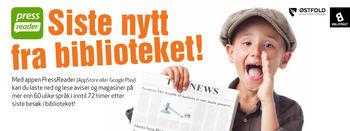 Info om app for å lese digitale aviser