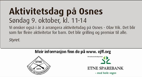 Annonse Aktivitetsdag Osnes 091016