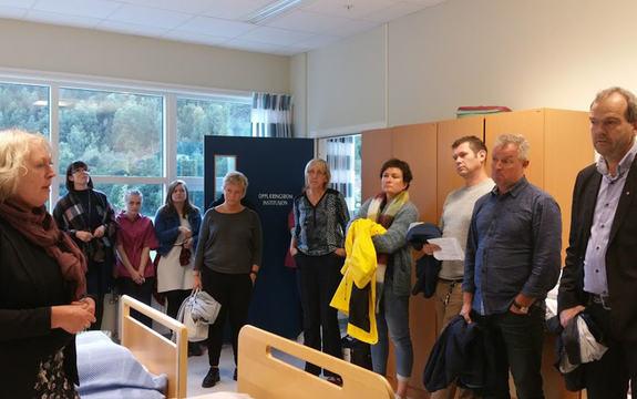 Foto som syner deltakarar på næringsreisa i Nordfjord hausten 2016.