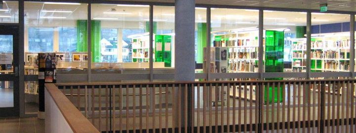Bilete syner biblioteket ved Sogndal vidaregåande skule