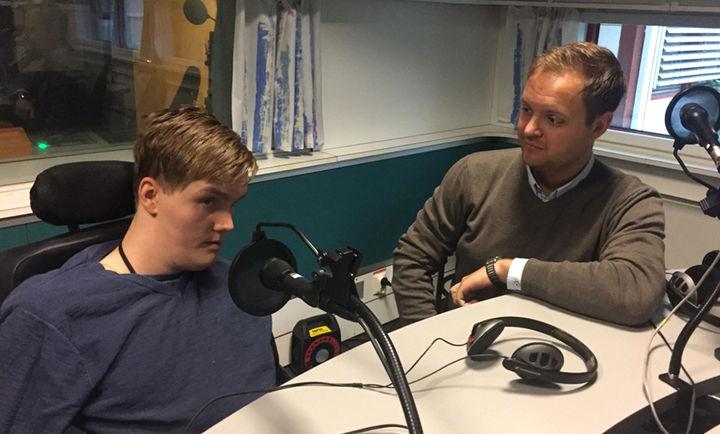 Radiosending med Tobias Dyregrov - Foto Bård Siem