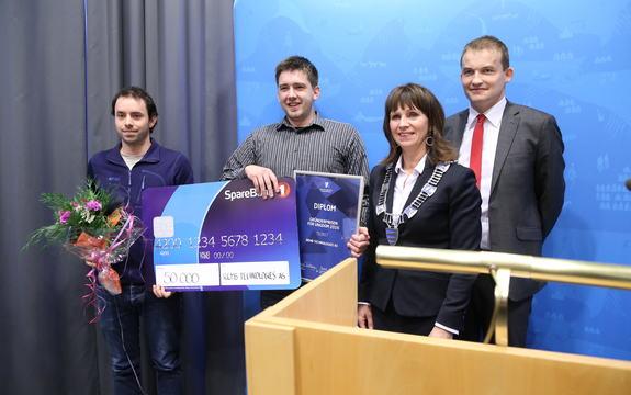 Bilde av vinnarane av Gründerprisen for ungdom