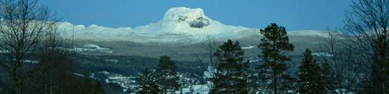 Vinterbilde fra Hattfjelldal