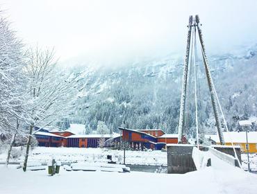 Hafstad vgs, vinterfoto - Mona Fossdal