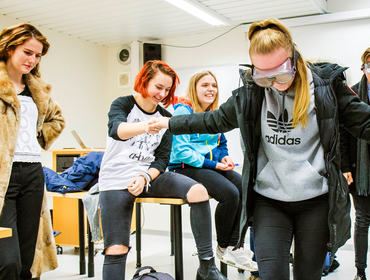"2mka-elevar involvert i haldningskampanjen ""Death Trip"". Foto - Ole Johnny Devik"