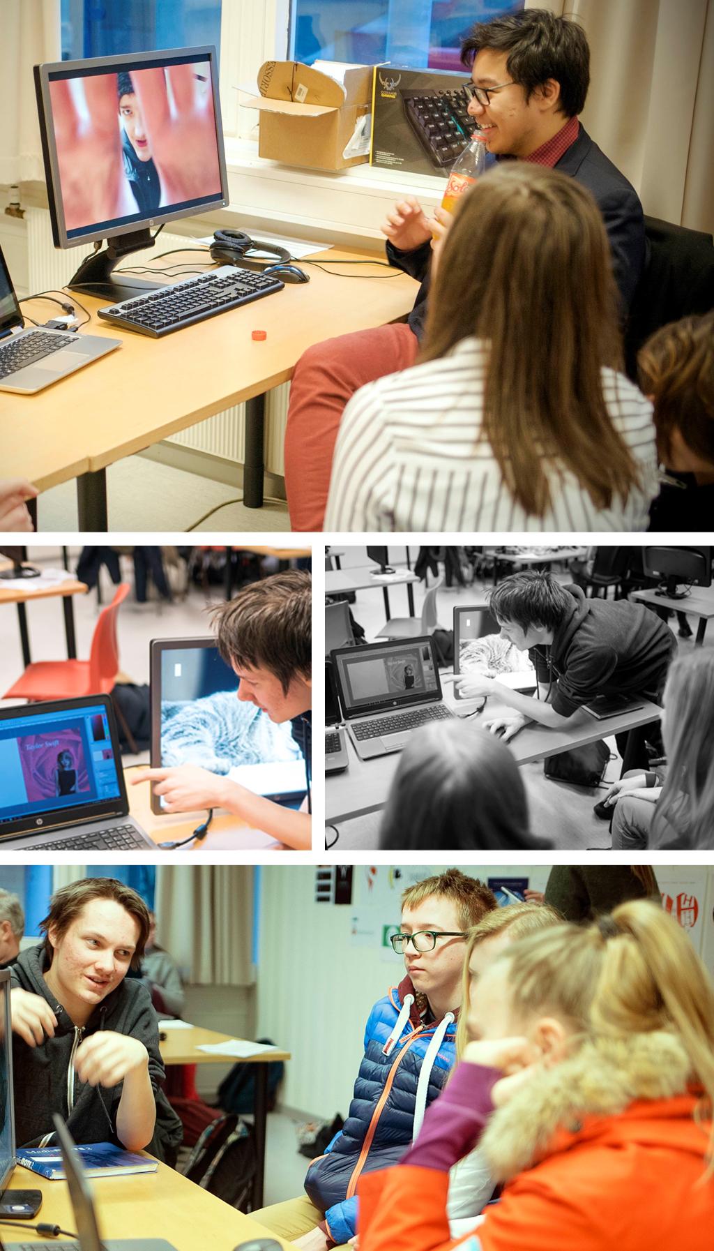 Workshop med klasse 2mka under utdanningsval ved Hafstad vgs våren 2017