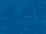 Illustrasjon av det såkalla bakteppet i den grafiske profilen til fylkeskommunen. Det er eit blått rektangel med mønster som også går i blåtonar.