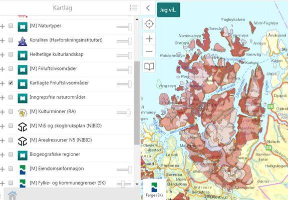 naturbase kartlagte friluftsområder