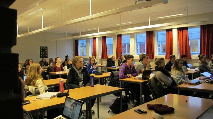 Elevar i eit klasserom