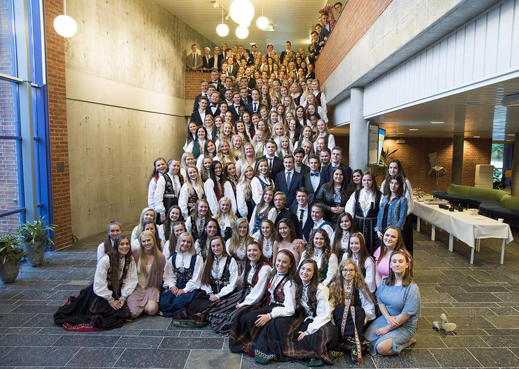 Heile 3. årskullet med vg3-elevar, våren 2017