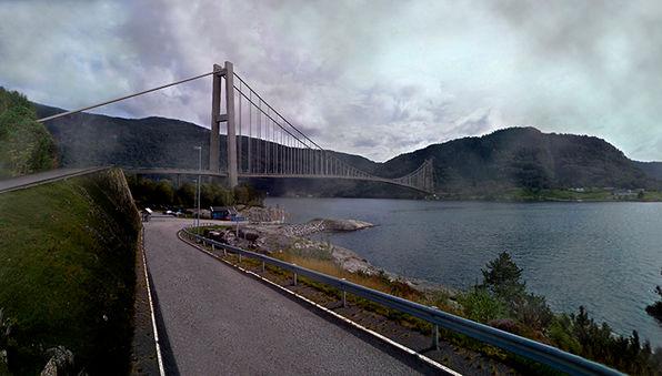 Masfjordbrua sett frå Duesund
