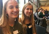 Synne et Hanna de Blindern videregående skole trouvent sympa de faire de nouvelles connaissances