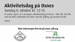 Annonse Aktivitetsdag Osnes 081017
