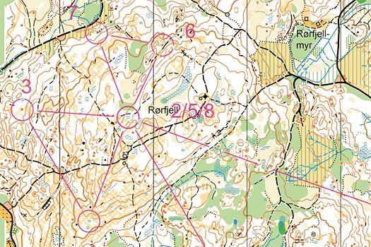 Blodslitet, utsnitt som viser en av sommerfuglene som var innlagt i løpet. Kart: Fredrikstad SK.