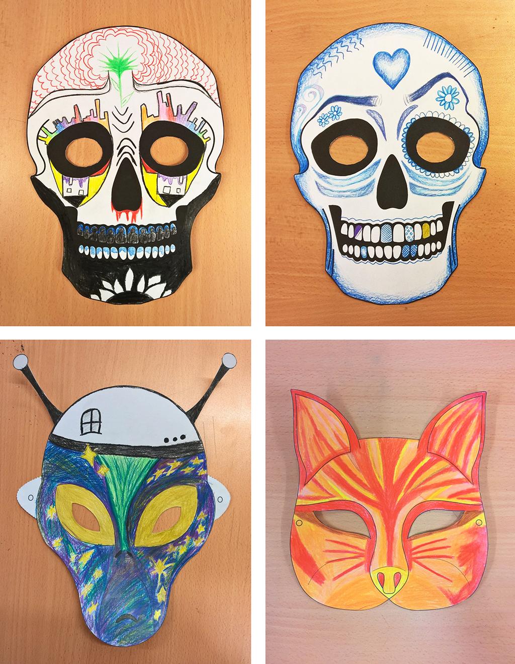 Dekorerte masker, foto Mona Fossdal.jpg