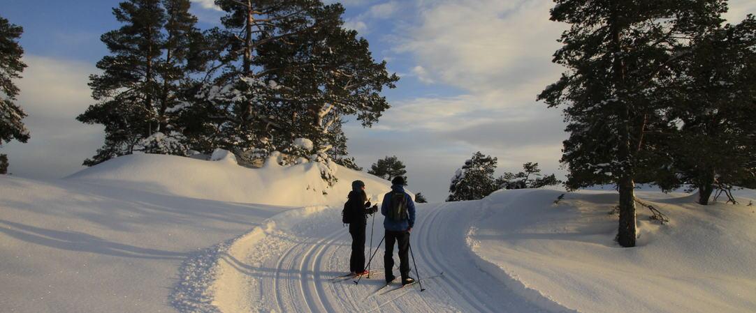 Skiløypi i november, saurdal skiarena